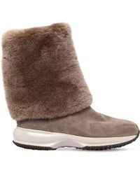Hogan - 60mm Interactive Shearling Boots - Lyst