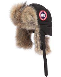 Canada Goose - Aviator Canvas & Fur Down Hat - Lyst