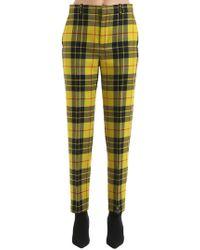 Balenciaga | Pantaloni In Lana Check | Lyst