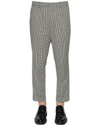 AMI | Carrot Fit Pleated Cool Cotton Pants | Lyst