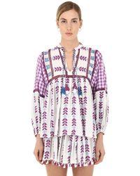 Dodo Bar Or - Cotton Jacquard & Lace Shirt W/ Tassels - Lyst