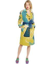 Burberry Prorsum - Manteau en toile de lin imprimé artwork - Lyst