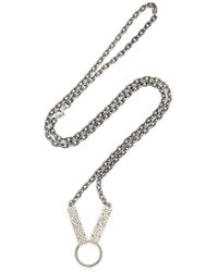Northskull - Woto Tag Sterling Silver Necklace - Lyst
