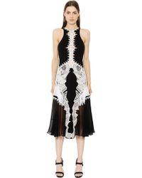 Jonathan Simkhai - Lace Appliqué Contoured Dress - Lyst