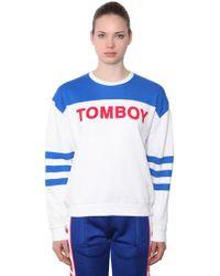 Filles A Papa - Tomboy Cotton Sweatshirt - Lyst