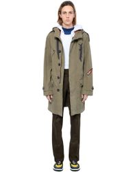 Lanvin - Washed Cotton Twill Parka W/ Patches - Lyst