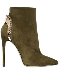 Daniele Michetti - 120Mm Suede Boots With Gold Plaque - Lyst