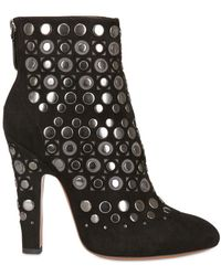 Alaïa | 110mm Metal Circle Suede Boots | Lyst