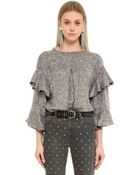 Isabel Marant - Top In Organza Con Paillettes - Lyst