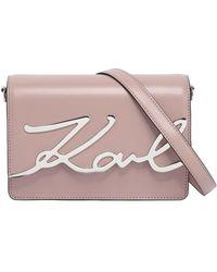 Karl Lagerfeld - K/ Signature Luxe Shoulder Bag - Lyst