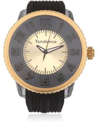 Tendence - Flash Led Black & Gold Watch - Lyst