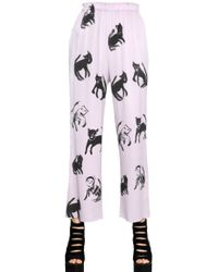 Claire Barrow - Printed Silk Pants - Lyst