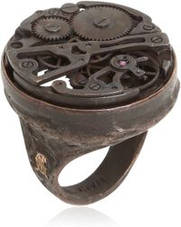 Cantini Mc Firenze - Steampunk Ring With Mechanical Movement - Lyst