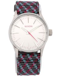 Nixon - The Sentry 38 Leather Watch - Lyst