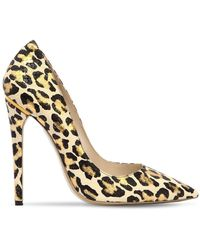 Ernesto Esposito - 115mm Leopard Printed Leather Pumps - Lyst