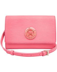 83d1c28d22 Metrocity - Small Embossed Leather Shoulder Bag - Lyst