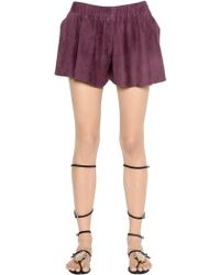 DROMe - Suede Leather Shorts - Lyst