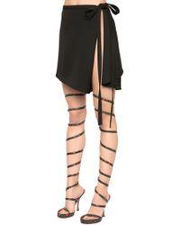 Y. Project - Open Side Cool Wool Wrap Skirt - Lyst
