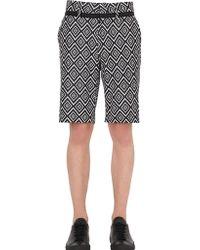 John Richmond - Retro Cotton Jacquard Shorts - Lyst