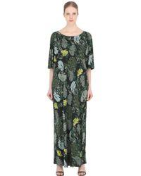 Larusmiani - Leaves Printed Viscose Jersey Dress - Lyst