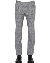 Gabriele Pasini - 18cm Prince Of Wales Wool & Cotton Pants - Lyst
