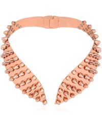 Ellen Conde - Studded High Collar Necklace - Lyst