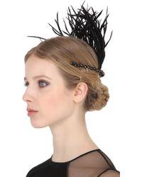 Rosantica - Corvo Headpiece With Feathers - Lyst