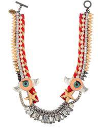 Venna - Winged Eyes Swarovski Crystal Necklace - Lyst