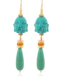 Katerina Psoma - Buddha Pendant Earrings - Lyst