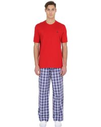 Brooks Brothers - Cotton Pyjama T-shirt & Trousers - Lyst