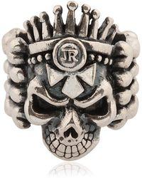 John Richmond - Skull & Bones Ring - Lyst