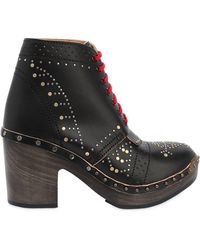 Burberry - Runway Ss18 70mm Studded Leather Boots - Lyst