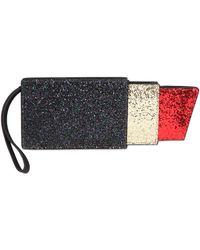 Lulu Guinness - Glittered Lipstick Clutch - Lyst