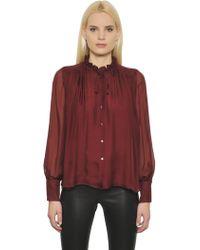Designers Remix - Voluminous Sheer Silk Shirt - Lyst