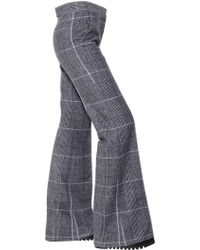 CALVIN KLEIN 205W39NYC - Plaid Wool Flared Trousers - Lyst