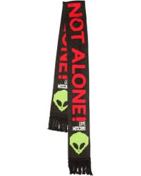 Love Moschino - Space Invaders Wool Blend Scarf - Lyst