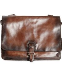Officine Creative - Hand-painted Leather Messenger Bag - Lyst