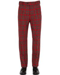 Gucci - 22.5cm Plaid Wool Blend Pyjama Trousers - Lyst