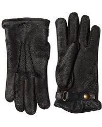 Belstaff - Buckie Wool & Deer Leather Gloves - Lyst