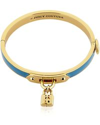 Juicy Couture - Padlock Charm Enamelled Bangle Bracelet - Lyst