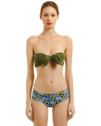 Albertine - Georgia Velvet & Lycra Bikini - Lyst