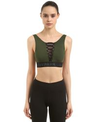 Ivy Park - Mesh Lace-up Sports Bra - Lyst