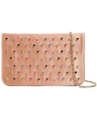 RED Valentino - Multicolour Crystals Satin Clutch - Lyst