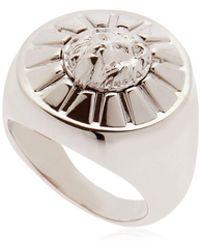 Versus - Lion Plaque Ring - Lyst