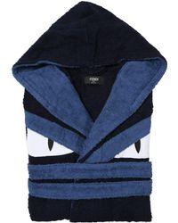 Fendi | Monster Cotton Terrycloth Bathrobe | Lyst