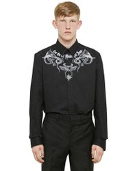 Givenchy - Tattoo Printed Light Cotton Twill Shirt - Lyst