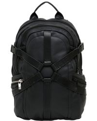 Bikkembergs - Harness Waxed Cotton Canvas Backpack - Lyst