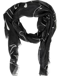 Valentino - Panther Modal, Cashmere & Silk Scarf - Lyst