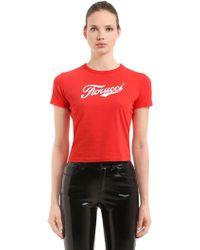 Fiorucci - Soda Logo Crop Jersey T-shirt - Lyst