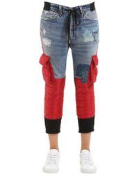 Moncler - Greg Lauren Collide Denim & Nylon Jeans - Lyst